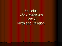 Apuleius Part 2 - Nipissing University Word