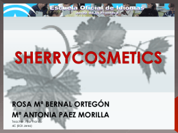 Sherry wine and cosmetics