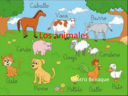 Los animales - WordPress.com