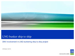 LNG bunker ship to ship