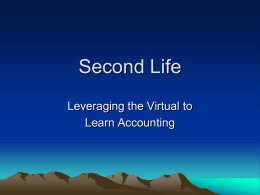 Second Life - FinancialAccounting