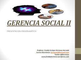 gerencia social i - EN SOCIEDAD