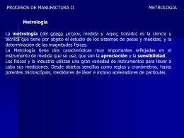 la metrologia - WordPress.com