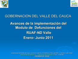 Evaluación Defunciones Enero-Junio 2011