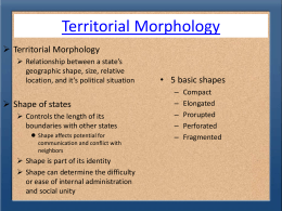 Territorial Morphology