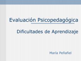 evaluación psicopedagógica - dificultades de aprendizaje