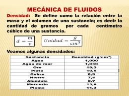 MECÁNICA Y DINÁMICA DE FLUIDOS
