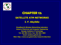 Satellite ATM - Broadband Wireless Networking Lab