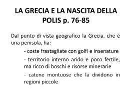 LA GRECIA E LA NASCITA DELLA POLIS p. 76-85