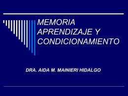 memoria aprendizaje y condicionamiento