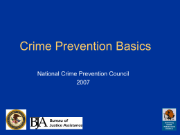 Crime Prevention Basics - National Crime Prevention Council