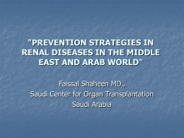 """PREVENTION STRATEGIES IN RENAL DISEASES IN THE"