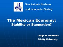 Jorge G. Gonzalez Trinity University San Antonio Business and