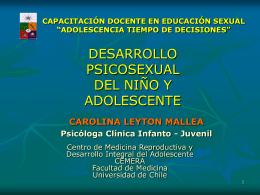 desarrollo psicosexual del niño y adolescente