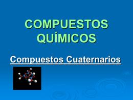 COMPUESTOS QUÍMICOS III