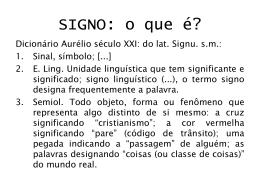 linguagem e signos