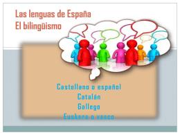 PPT Tema 14. Las lenguas de España