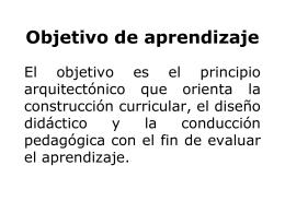 Objetivo de aprendizaje - didactica-historia