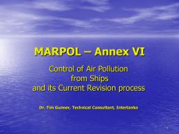 MARPOL – Annex VI