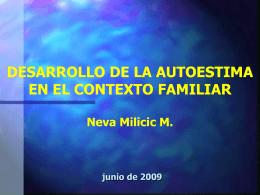 Desarrollo de la Autoestima en los niños Neva Milicic M.