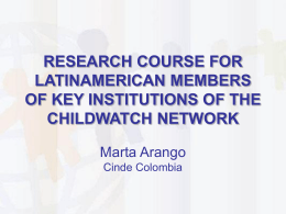 who are the participants - The Childwatch International Research