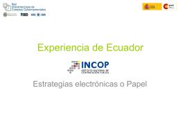 Experiencia Ecuador