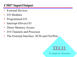 Input/Output - Louisiana Tech University