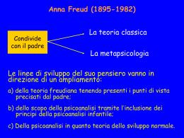 Lezione su Anna Freud