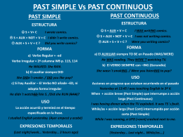 PAST SIMPLE Vs PAST CONT PPT