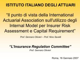 No Slide Title - Istituto Italiano degli Attuari