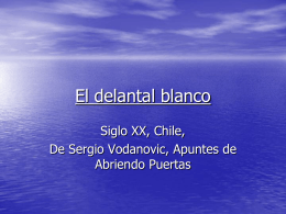 El delantal blanco