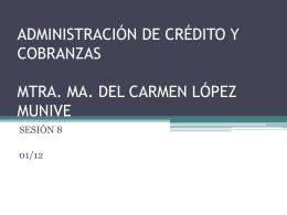 CAPÍTULO II - Administración de Crédito y Cobranza