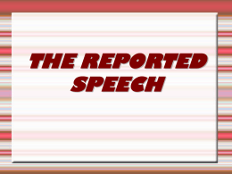 the reported speech - english for eso and bachillerato