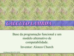 CALCULO LAMBDA