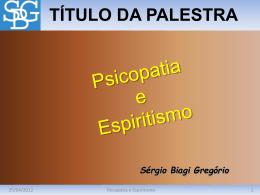 Slide 1 - Sérgio Biagi Gregorio