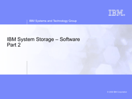 IBM TotalStorage DS Series Disk Subsystems