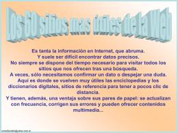 """""""Sitios"""" (o páginas Web) útiles"""