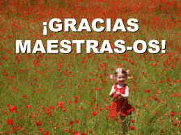 GRACIAS MAESTRAS