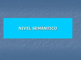 NIVEL SEMÁNTICO