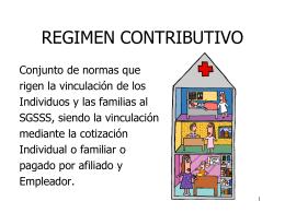 regimen contributivo