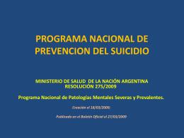 programa nacional de prevencion del suicidio