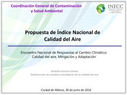 Presentación de PowerPoint - Instituto Nacional de Ecología y