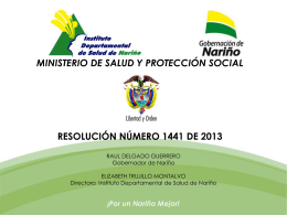 Presentación de PowerPoint - Instituto Departamental de Salud de
