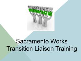 Liaison Training - Sacramento Employment and Training Agency