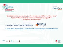 Establecimiento de protocolos en los exámenes médicos