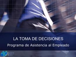 la toma de decisiones - Asistencia Empresarial Mexicana
