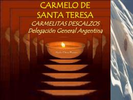 Diapositiva 1 - Carmelo de Santa Teresa