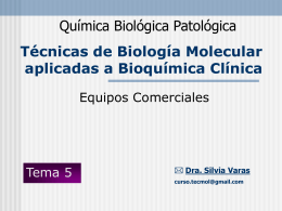 Teorico 1 - Blog de Química Biológica Patológica