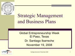 Business plans and IIA