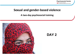 SGBV Training – PowerPoints day 2